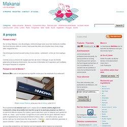 Page d'accueil de Makanai - Blog et Lieu de Partages