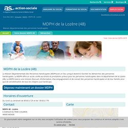 MDPH de la Lozère (48) : Accueil des personnes handicapées.