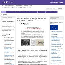 Portail BNF Europe
