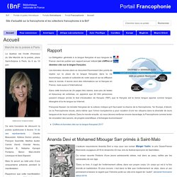 BNF - Portail Francophonie