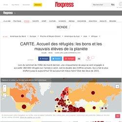 CARTE. Accueil des réfugiés: les bons et les mauvais élèves de la planète