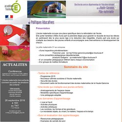 Accueil site maternelle