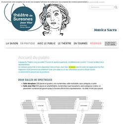 Accueil du public - Théâtre de Suresnes Jean Vilar