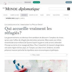 Qui accueille vraiment les réfugiés syriens ?, par Hana Jaber (Le Monde diplomatique, octobre 2015)