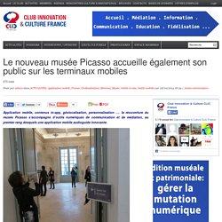 Le nouveau musée Picasso accueille également son public sur les terminaux mobiles