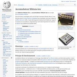Accumulateur lithium-ion