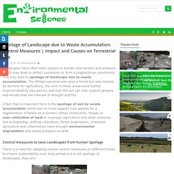 Impact and Causes on Terrestrial Life - Environmental Science Studies - Issues, Affects, Causes
