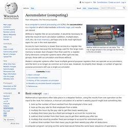 Accumulator (computing)