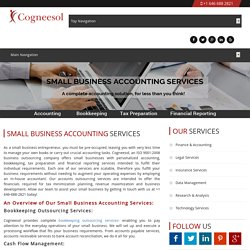 Accurate & Affordable Small Business Accounting Services