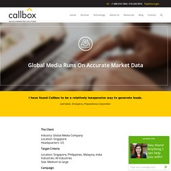 Global Media Runs On Accurate Market Data - B2B Lead Generation Company Malaysia