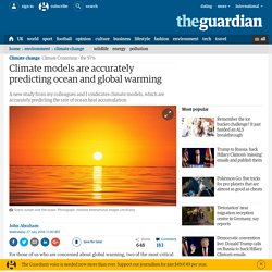 Climate models are accurately predicting ocean and global warming