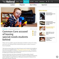 Common Core accused of leaving special-needs students behind