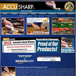 AccuSharp Knife Sharpeners - Sharpen Knives, Cutting Tools, Garden Tools, Scissors, Axes, Machetes, Cleavers - Edge Sharpener
