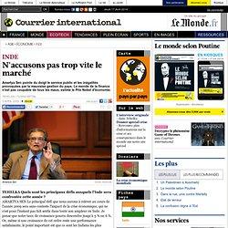 INDE • N'accusons pas trop vite le marché | Courrier internation