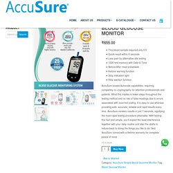Buy Accusure Simple Glucometer, Simple Blood Glucose Monitor Price