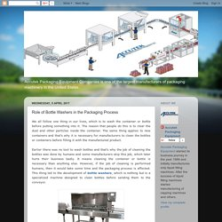 Accutek Packaging Equipment: Role of Bottle Washers in the Packaging Process