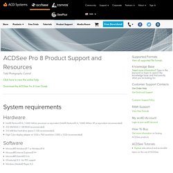 ACDSee Pro 8 Product Support - ACD Systems