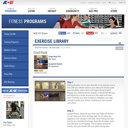 Front Plank - Abs, Back - Get Fit Exercise Library