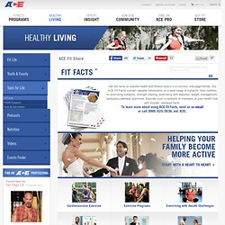 Health and Fitness Information - ACE Fitness Videos, Articles, Workouts