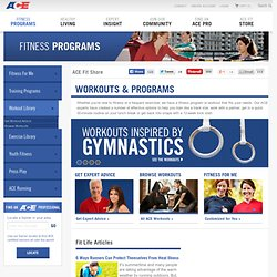 Fitness Workout Programs - Get Fit - American Council on Exercise