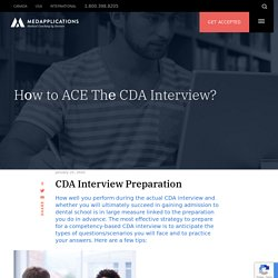 Hоw to ACE Thе CDA Interview?