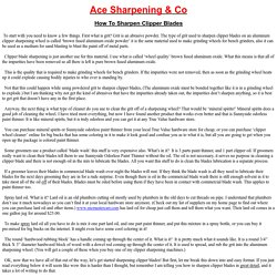 Ace Sharpening & Co