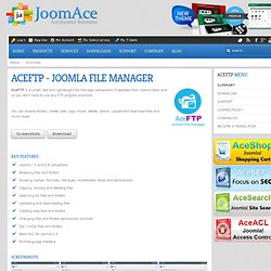 AceFTP - Joomla File Manager