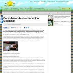 Como hacer Aceite cannábico Medicinal