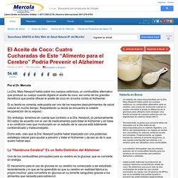 El Aceite de Coco para Curar o Prevenir el Alzheimer