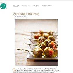 Aceitunas rellenas - Receta