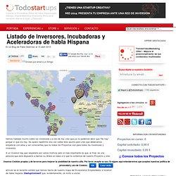 Listado de Inversores, Incubadoras y Aceleradoras de habla Hispana