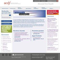 Revue éducation et francophonie