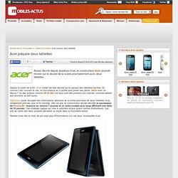 Acer prépare deux tablettes