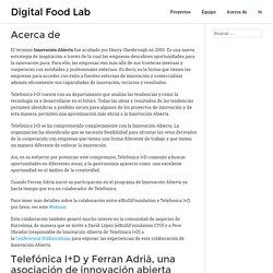 Acerca de - Digital Food Lab