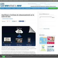AcerCloud, el sistema de almacenamiento en la nube de Acer