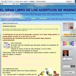 EL GRAN LIBRO DE LOS ACERTIJOS DE INGENIO: INTRODUCCIÓN (55)