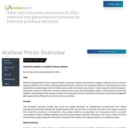 Acetone Prices, News, Market & Analysis