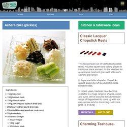 Achara-zuke (pickles) - Bento.com
