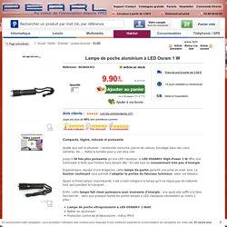 Achat/Vente Lampe de Poche Aluminium à LED Osram 1 W moins cher