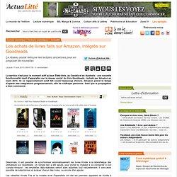 Les achats de livres faits sur Amazon, intégrés sur Goodreads