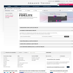 Vos achats de vêtements moins chers avec la carte de fidélité Armand Thiery