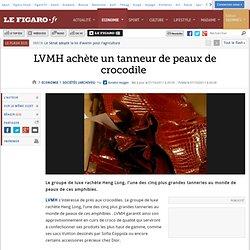 Sociétés : LVMH achète un tanneur de peaux de crocodile