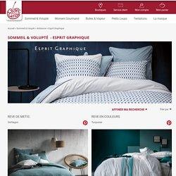 Blanc Cerise : Acheter toute la collection de linge de lit en percale de coton et lin lavé de grande qualité - esprit graphique - Blanc Cerise