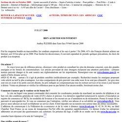 Document 4: BIEN ACHETER SUR INTERNET