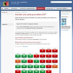 Carte journalière CFF - Ville de Genève
