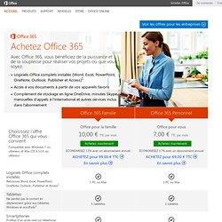 Acheter Microsoft Office et Microsoft Office365