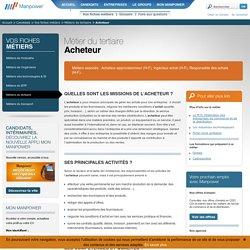 Acheteur - Fiche métier Acheteur : Formation, qualités, missions