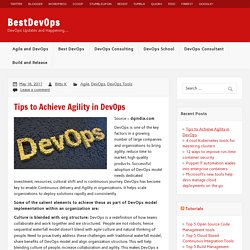 Best 6 Tips to Achieve Agility in DevOps