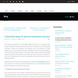 5 Sure Shot Ways To Achieve Automation Success