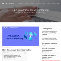 How To Achieve Cloud Computing